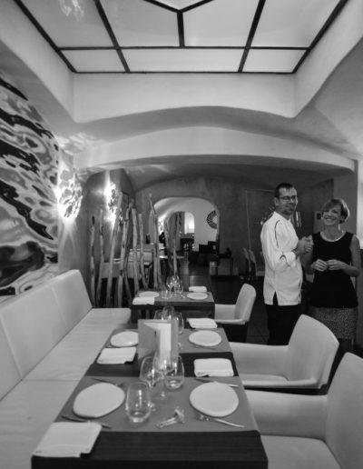 salle de restaurant - restaurant gastronomique Mickaël Féval
